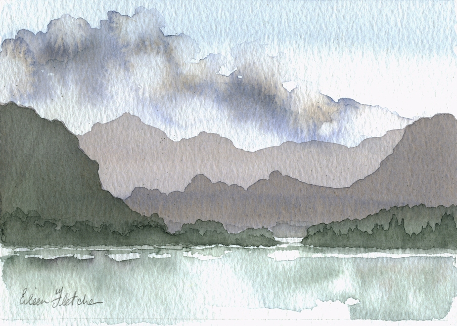 Watercolour Borrowdale