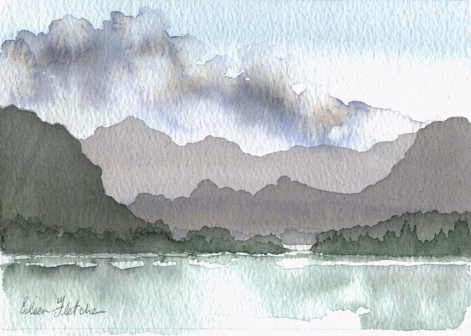 Watercolour Borrowdale