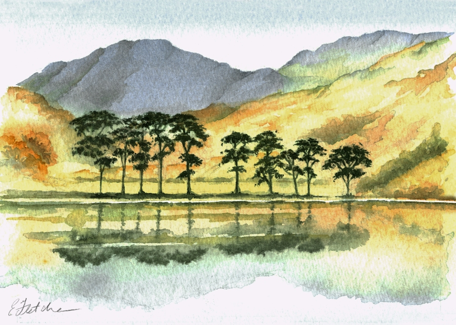 watercolour Derwentwater