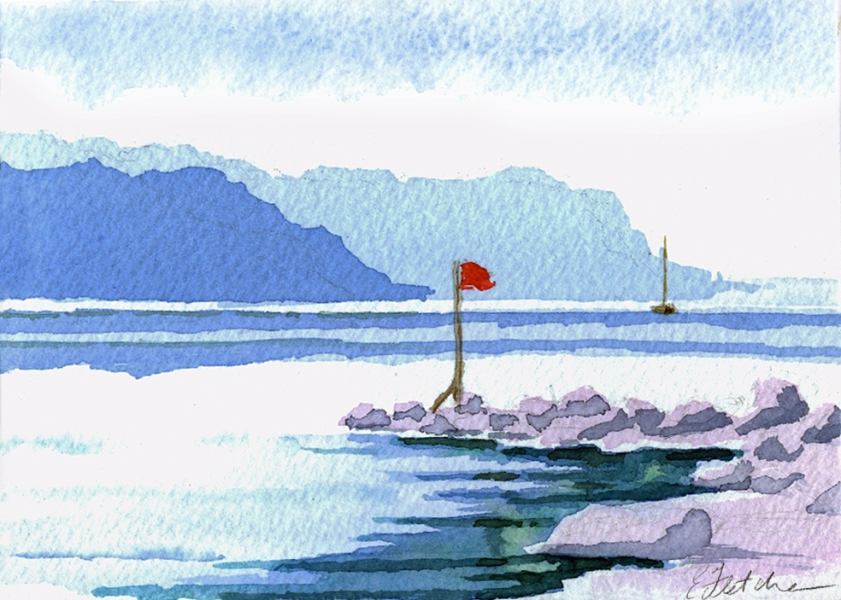 Watercolour Rock flag
